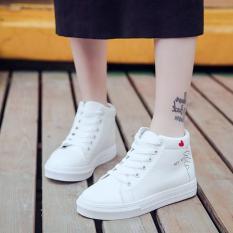Giày cao cổ nữ điểm trái tim cá tính (098C)