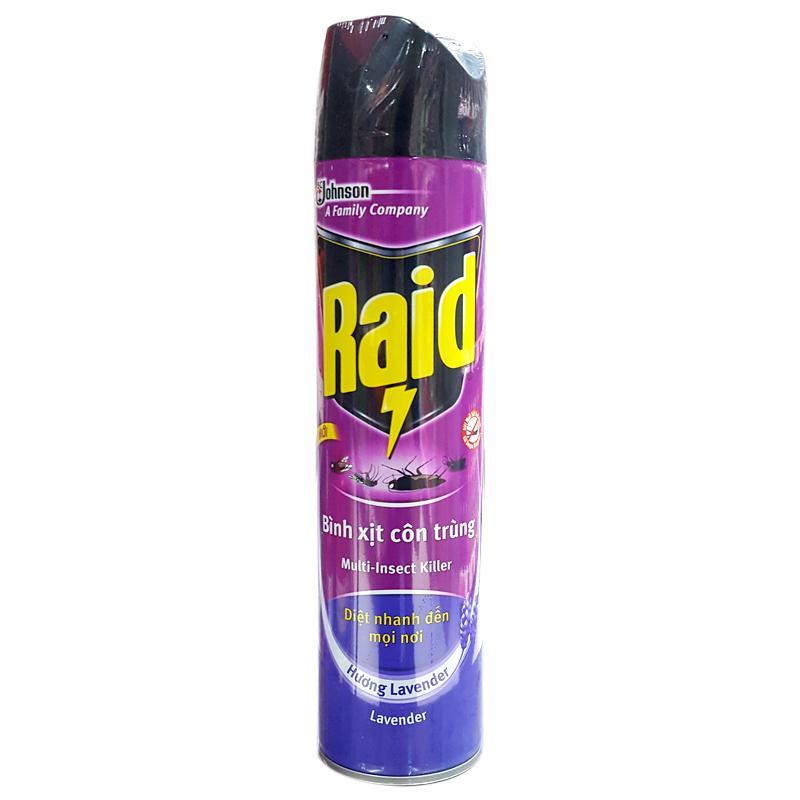 Xịt muỗi Raid hương Lavender chai 600ml