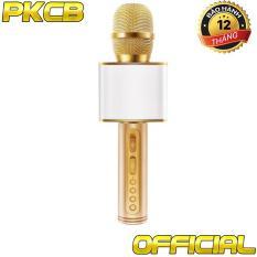 Micro karaoke không dây bluetooth kiêm loa nghe nhạc PKCB-08 auth