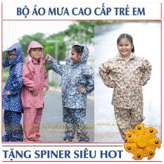 Bộ Quần Áo Đi Mưa Cho Bé Mẫu 2018 + Tặng Spiner siêu hot (BO.AOMUA.TE)