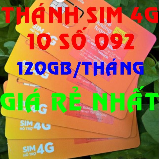 Thánh sim 4G Vietnamobile 10 số FREE 120Gb/tháng - Shop Sim Giá Rẻ