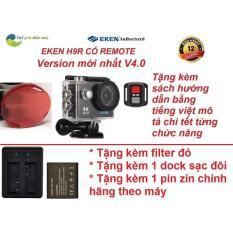 Camera thể thao Eken H9R(có remote) version 4.0 tặng filter đỏ, dock sạc đôi và pin 1050
