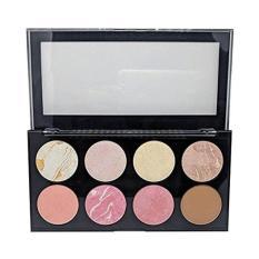 Set trang điểm đa năng 8 ô Sivanna Colors Pro HD Blusher & Highlighter & Contour Palette #01