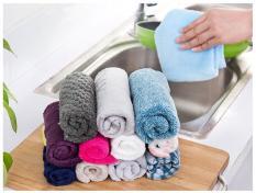 Bộ 5 khăn nhung lau tay, lau chén nhà bếp 25×25 cm
