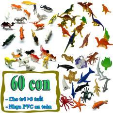Mô hình đồ chơi 60 chi tiết Animal Dinosaur Sea Worldnhựa PVC an toàn – New4all