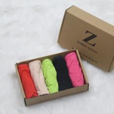 Combo 5 quần lót nữ cotton gợi cảm QL 8120 (5 màu như hình)
