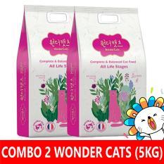 Combo 2 túi thức ăn hạt cho mèo Wonder Cats 5kg