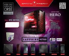 Vỏ máy tính – thùng máy tính – Case máy tính MX700G-Case Kính Cường Lực Có 4 Fan LED
