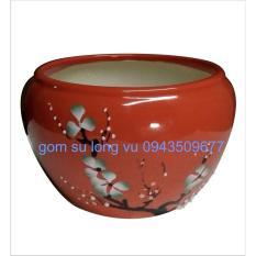 vò cắm hoa khô khắc nổia015