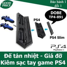 Đế tản nhiệt cho Playstation 4/ PS4 Slim kiêm đế giữ và sạc tay game Dobe TP4-891