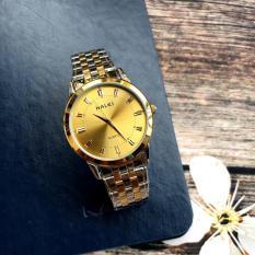 Đồng hồ nam HL502 Demi mặt vàng – chống nước – chống xước – [SIÊU KHUYẾN MẠI] TẶNG PIN DỰ PHÒNG 100K + 2 Pin AG4
