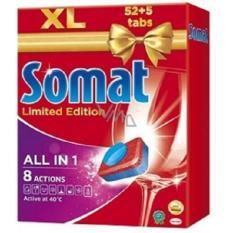 Viên rửa chén bát ly – SOMAT All in 1 – 8 Actions (28 Viên ) made in Germany
