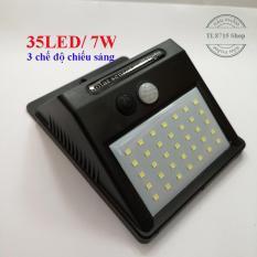 Đèn năng lượng mặt trời cảm biến hồng ngoại 35 bóng led/ công suất 7W siêu sáng