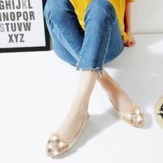 Giày búp bê đính đá hình bướm (Màu đen) (Màu vàng) (Màu bạc)