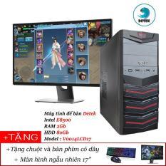 Bộ Máy tính để bàn Detek – Intel E8500 RAM 2Gb HDD 80Gb Model : V0014L kèm màn hình LCD 17 INCH và bộ bàn phím chuột có dây