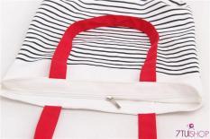 Túi Tote vải sọc phong cách Hàn 291882