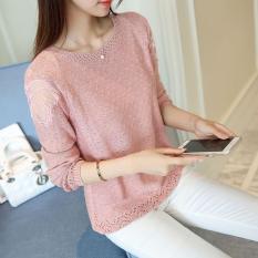 Áo len nữ , dáng đẹp vai phối ren họa tiết rất đẹp Lz.01409