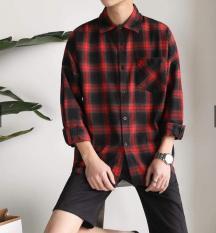 Áo sơ mi Caro Đỏ Xanh Đen – Flannel Basic Unisex – Shirt Ca ro – Flannel Red Black Blue