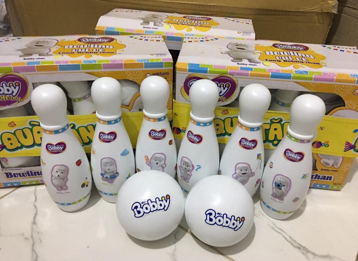 Set Bowling trắng cho bé