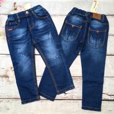 Quần jeans dài bé trai túi phối nút từ 20kg đến 28kg – QT233