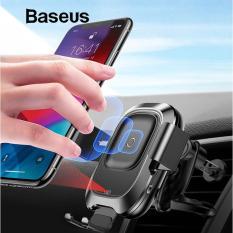 Mua Đế sạc nhanh không dây trên ô tô hãng Baseus công xuất 10W tích hợp cảm biến thông minh chuẩn Qi cho iphone X , iphone 8,Samsung S9, Note8 Tại Vietstore