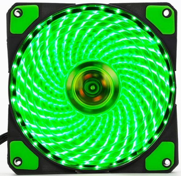 Mua Fan led Quạt Case thông gió Fan led 12cm -36 bóng led xanh Greend Tại maytinhvp