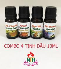 COMBO 4 TINH DẦU 10ML: SẢ CHANH, QUẾ, BẠC HÀ VÀ OẢI HƯƠNG