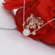 Dây chuyền | dây chuyền nữ | vòng cổ bạc| dây chuyền bạc | vòng cổ bạc nữ hạt bi tròn trắng DB1583 – bảo ngọc jewelry – antamshoptainha