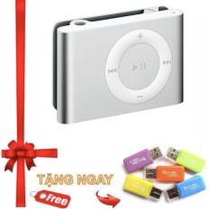 Máy nghe nhạc MP3 Protab vỏ nhôm kẹp áo + Tặng đầu đọc thẻ nhớ chép nhạc vào máy mp3