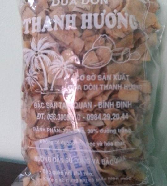Dừa dòn ( sấy khô ) Thanh Hương 500g loại 1 , ĐẶC SẢN BÌNH ĐỊNH