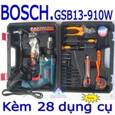 Máy khoan BOSCH GSB13+bộ 28 dụng cụ bo may khoan bosch bo may khoan da nang