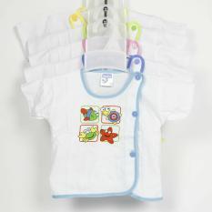 Bộ 05 áo bác sĩ bosini ngắn tay cho bé từ 0-12 tháng