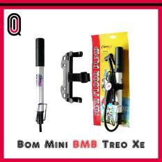 Bơm mini treo xe đạp BMB có đồng hồ đo áp lực