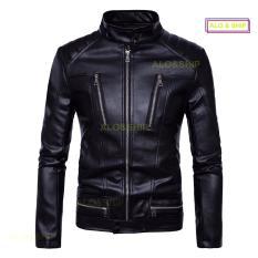 Áo khoác da nam lót dù thời trang cao cấp AD019