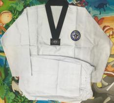 Võ phục Taekwondo WTF cổ đen vải kim cương