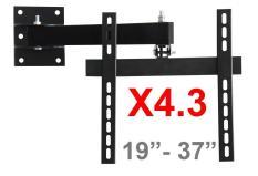 Khung treo Tivi LCD – LED – Plasma Xoay cao cấp 19 – 37inch X4.3 (Đen) – BetterLife ( Có Clip hướng dẫn lắp đặt )