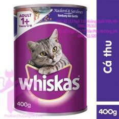 Thức ăn cho mèo Pate Whiskas Adult Lon 400g vị cá thu