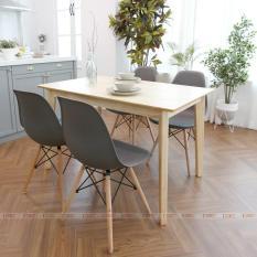 [Freeship] Bộ Bàn ăn 4 ghế ăn Morina nhiều màu IBIE 1m2 gỗ cao su phong cách Bắc Âu Scandinavian theo lối sống tối giản, kích thước, màu sắc tùy chọn. Gia công tỉ mỉ, chất lượng xuất khẩu. Bảo hành 12 tháng, miễn phí vận chuyển TPHCM