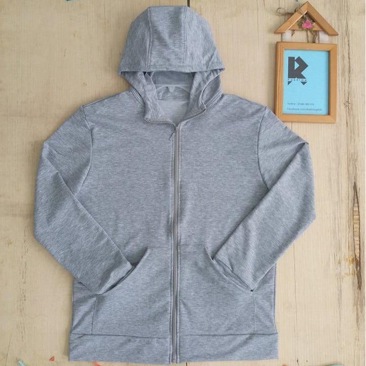 Áo khoác nam có nón cotton JeanFashion xám (Free size)
