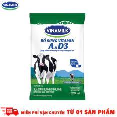Thùng 48 Bịch Sữa tiệt trùng Vinamilk có đường 220ml