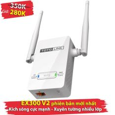 Kích sóng Totolink EX300 V2 (phiên bản mới nhất) – xuyên tường nhiều lớp, kích sóng wifi, thiết bị kích sóng wifi, Kích wifi, bộ kích sóng wifi, kích sóng totolink, totolink, kích sóng wifi giá rẻ, bộ kích sóng wifi, totolink