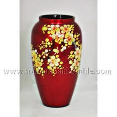 Lọ ( bình ) cắm hoa cao 25cm MIỄN SHIP , gỗ phủ sơn mài cao cấp loại 1 nhiều màu