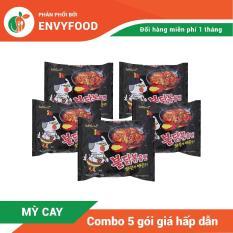 Combo 5 gói mì cay truyền thống SamYang Hàn Quốc