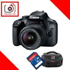 Canon EOS 3000D Kit 18-55mm – (Hàng Canon Lê Bảo Minh)-Tặng khoá học nhiếp ảnh EOS + Thẻ SD 16GB + Túi