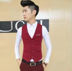 Áo Gile nam phong cách Hàn Quốc GL02 (đỏ)