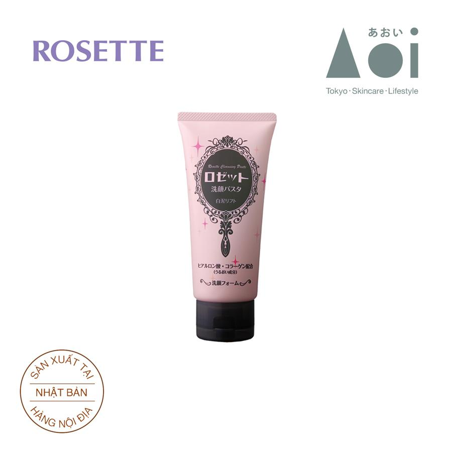 Sữa Rửa Mặt Chống Lão Hóa Rosette Face Wash Pasta White Clay Lift 120g