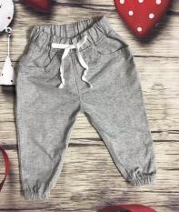 Thời trang trẻ em=>Quần dài bé trai bo lai chất vải linen.
