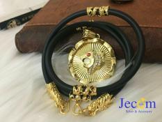 Dây chuyền nam đầu rồng mạ vàng kèm mặt sư tử cá tính Jecom Silver DCNDR01