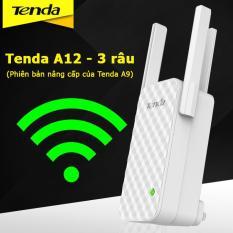Kích sóng wifi Tenda A12 Repeater Wireless 3 râu (Phiên bản nâng cấp của Tenda A9)