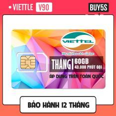 SIM 4G VIETTEL V90 TẶNG 60GB DATA, MIỄN PHÍ NGHE GỌI